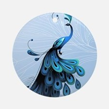 Elegant Peacock Ornament (Round)