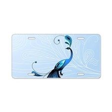 Elegant Peacock Aluminum License Plate