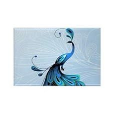 Elegant Peacock Magnets