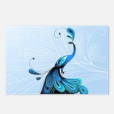 Elegant Peacock Postcards (Package of 8)