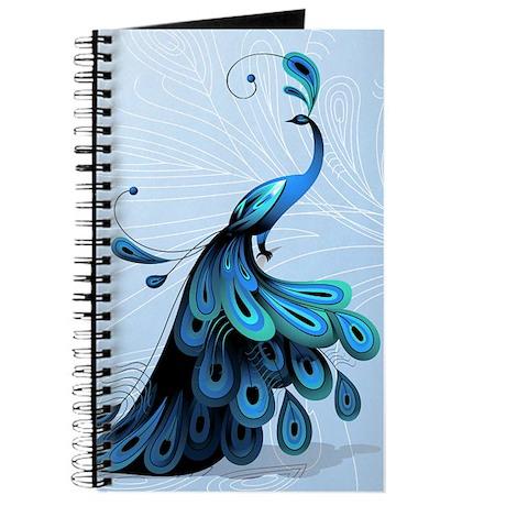 Charming Elegant Peacock Journal