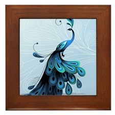 Elegant Peacock Framed Tile