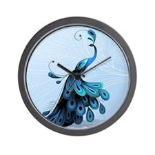 Elegant Peacock Wall Clock