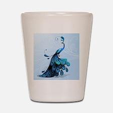 Elegant Peacock Shot Glass