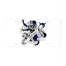 Fletcher Tartan Lion Aluminum License Plate