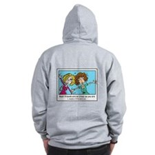 Crazy Best Friends Zip Hoody
