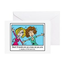 Crazy Best Friends Greeting Card