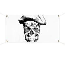white Chef Skull Banner