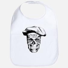 white Chef Skull Bib