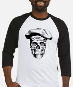 white Chef Skull Baseball Jersey