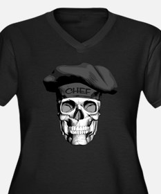 Black Chef Skull Plus Size T-Shirt