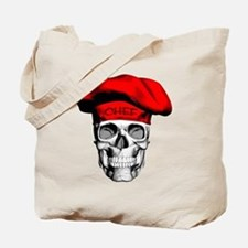 Red CHef Skull Tote Bag