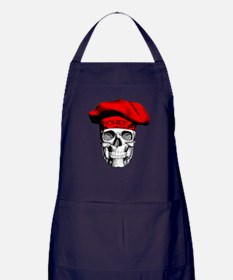 Red CHef Skull Apron (dark)