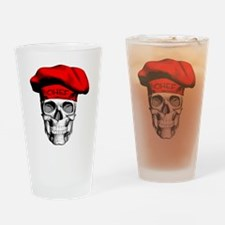 Red CHef Skull Drinking Glass