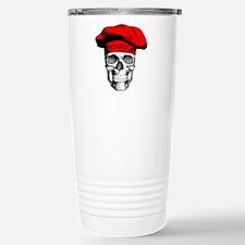 Red CHef Skull Travel Mug