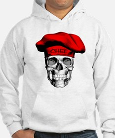 Red CHef Skull Hoodie
