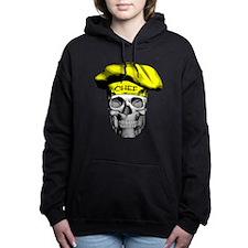 Yellow Chef Skull Women's Hooded Sweatshirt