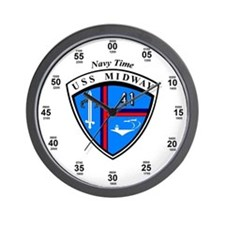 Uss Midway Cv-41 Navy Time Wall Clock