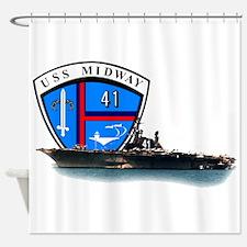 USS Midway CV-41 Shower Curtain