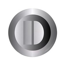 """Polished Steel (D) 3.5"""" Button"""