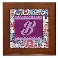 Monogram B Design Framed Tile