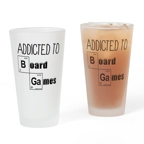 Addicted to Board Games Drinking Glass