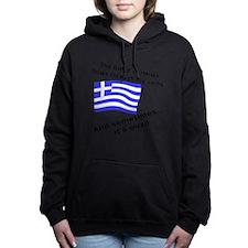 Greek Blood and Ouzo Women's Hooded Sweatshirt