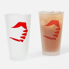 Vertical Fist Drinking Glass