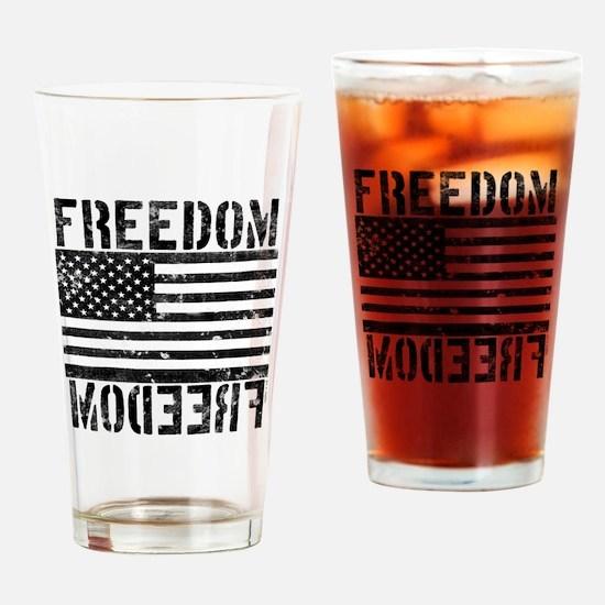 Freedom US Flag Drinking Glass