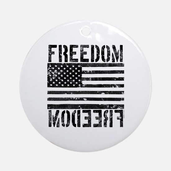 Freedom US Flag Ornament (Round)