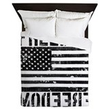 Black and white patriotic Queen Duvet Covers