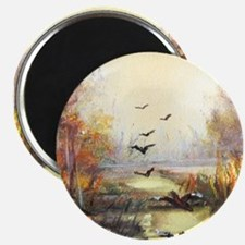 Autumn hunting pastel Magnets