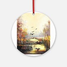 Autumn hunting pastel Ornament (Round)