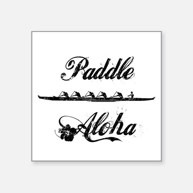 "Paddle Aloha Kane Square Sticker 3"" x 3"""