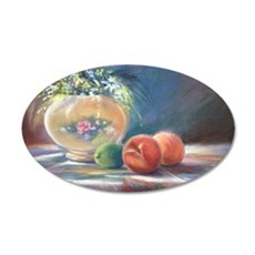 Peaches and flowers pastel Decal Wall Sticker