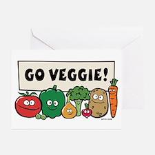 Go Veggie! Greeting Cards (Pk of 10)
