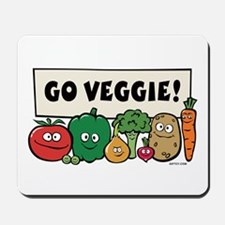Go Veggie! Mousepad