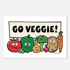 Go Veggie! Postcards (Package of 8)
