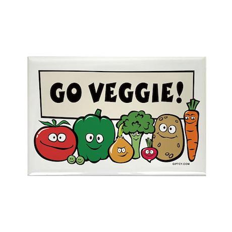 Go Veggie! Rectangle Magnet