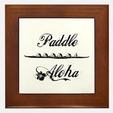 Paddle Aloha Kane Framed Tile