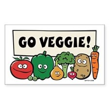 Go Veggie! Rectangle Decal
