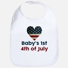 Babys 1st 4th of July Bib