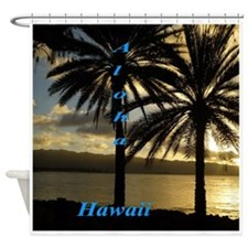 North Shore Sunset Oahu Shower Curtain