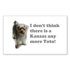 No more Kansas Rectangle Decal