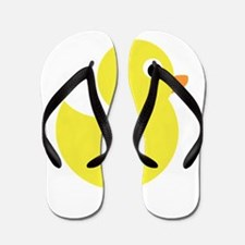 Yellow Rubber Duck Flip Flops