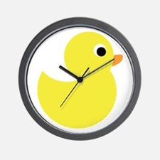 Yellow Rubber Duck Wall Clock