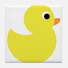 Yellow Rubber Duck Tile Coaster