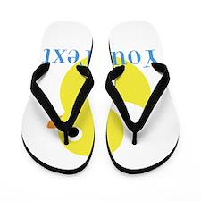 Personalizable Yellow Duck Blue Flip Flops