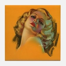 Pin Up Girl, Glamour Girl,Retro Vintage Tile Coast