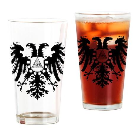 Roman Eagle Illuminati Drinking Glass